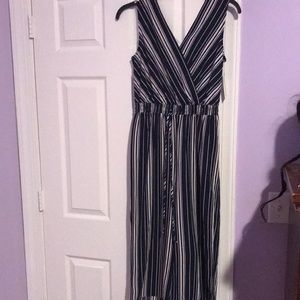White and blue jumpsuit never worn